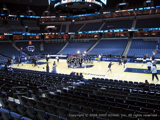 Seat view from section 115 at Fedex Forum, home of the Memphis Grizzlies.