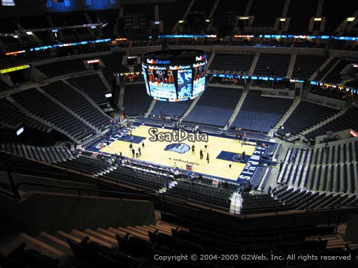 Seat view from section 211 at Fedex Forum, home of the Memphis Grizzlies.