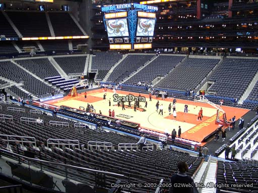 View from Section 209 at State Farm Arena, Home of the Atlanta Hawks