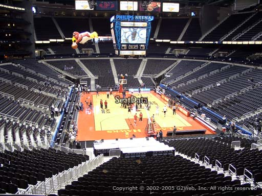 View from Section 220 at State Farm Arena, Home of the Atlanta Hawks