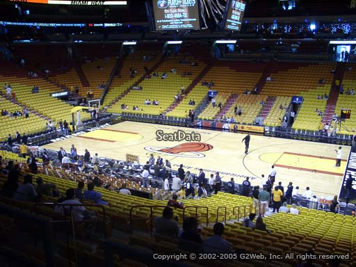 Seat view from section 104 at American Airlines Arena, home of the Miami Heat