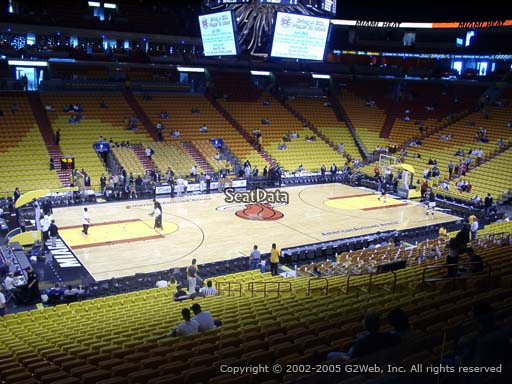 Seat view from section 120 at American Airlines Arena, home of the Miami Heat