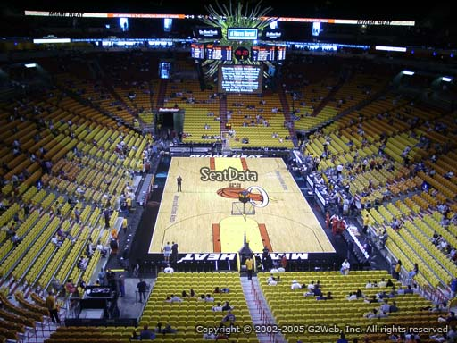 Seat view from section 317 at American Airlines Arena, home of the Miami Heat