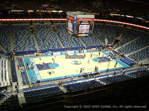 Seat view from section 302 at the Smoothie King Center, home of the New Orleans Pelicans