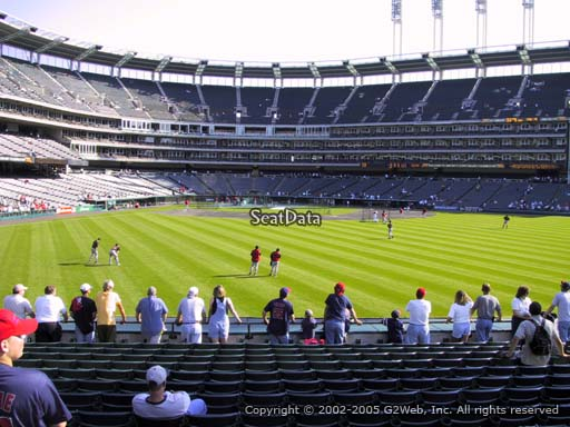 Seat view from section 103 at Progressive Field, home of the Cleveland Indians