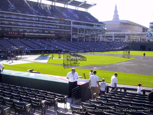 Seat view from section 138 at Progressive Field, home of the Cleveland Indians
