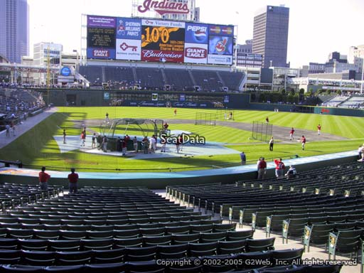 Seat view from section 251 at Progressive Field, home of the Cleveland Indians