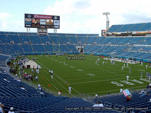 Seat view from section 101 at TIAA Bank Field, home of the Jacksonville Jaguars