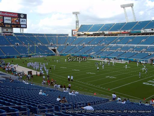 Seat view from section 103 at TIAA Bank Field, home of the Jacksonville Jaguars