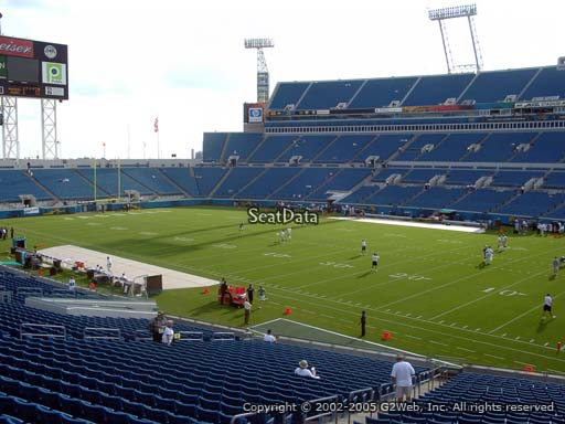Seat view from section 131 at TIAA Bank Field, home of the Jacksonville Jaguars