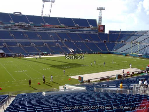 Seat view from section 140 at TIAA Bank Field, home of the Jacksonville Jaguars
