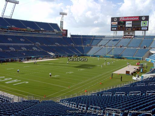 Seat view from section 144 at TIAA Bank Field, home of the Jacksonville Jaguars