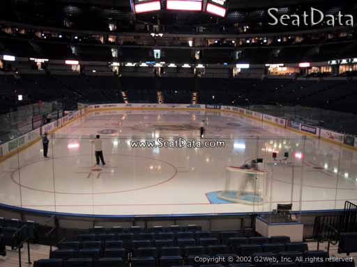 Seat view from section 124 at Amalie Arena, home of the Tampa Bay Lightning