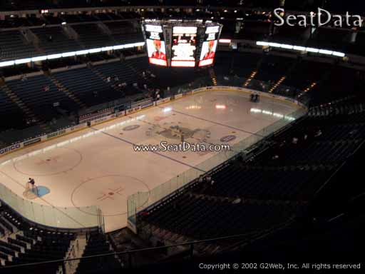 Seat view from section 320 at Amalie Arena, home of the Tampa Bay Lightning
