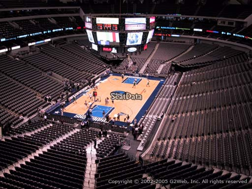 Seat view from section 316 at the American Airlines Center, home of the Dallas Mavericks