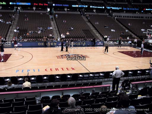 Seat view from section 126 at the Pepsi Center, home of the Denver Nuggets