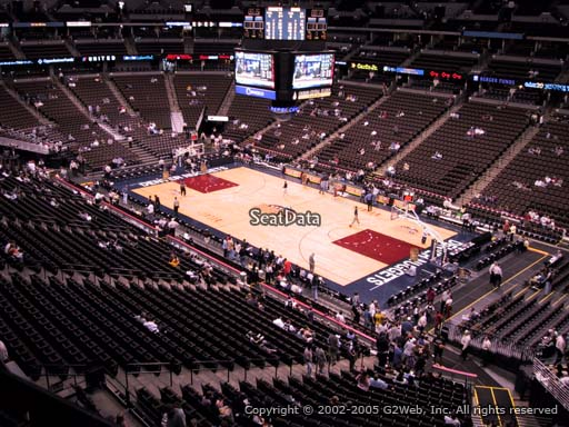 Seat view from section 224 at the Pepsi Center, home of the Denver Nuggets