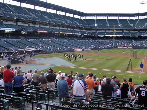 Seat view from section 18 at Oriole Park at Camden Yards, home of the Baltimore Orioles