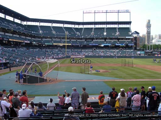 Seat view from section 24 at Oriole Park at Camden Yards, home of the Baltimore Orioles