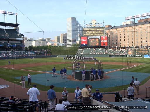 Seat view from section 38 at Oriole Park at Camden Yards, home of the Baltimore Orioles