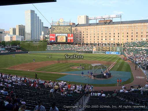 Seat view from section 47 at Oriole Park at Camden Yards, home of the Baltimore Orioles