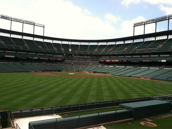 View from Standing Room Only Area at Camden Yards, home of the Baltimore Orioles