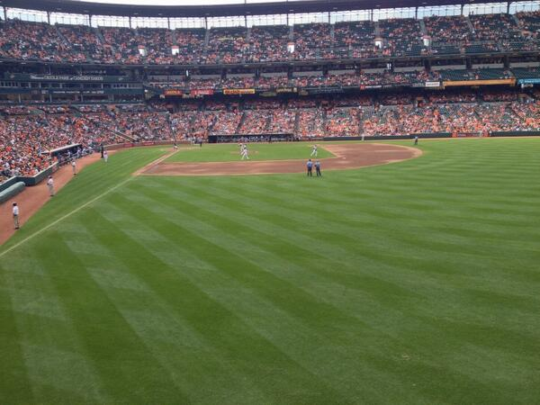 View from Standing Room Only area at Camden Yards