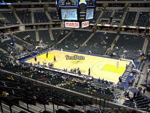 Seat view from section 102 at Bankers Life Fieldhouse, home of the Indiana Pacers