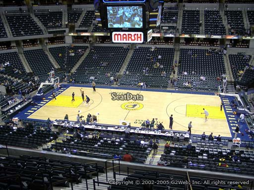 Seat view from section 103 at Bankers Life Fieldhouse, home of the Indiana Pacers