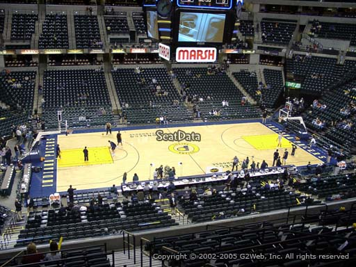 Seat view from section 105 at Bankers Life Fieldhouse, home of the Indiana Pacers
