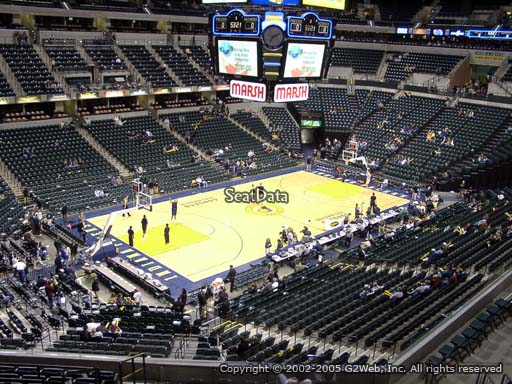 Seat view from section 107 at Bankers Life Fieldhouse, home of the Indiana Pacers