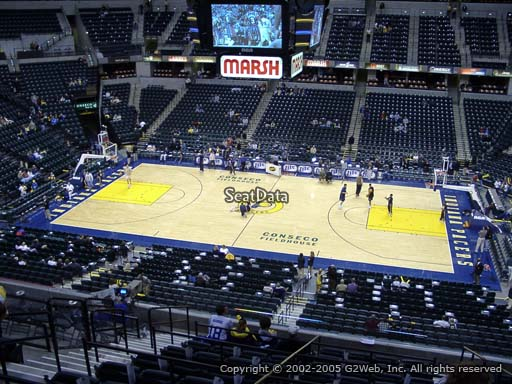 Seat view from section 116 at Bankers Life Fieldhouse, home of the Indiana Pacers