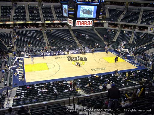 Seat view from section 118 at Bankers Life Fieldhouse, home of the Indiana Pacers