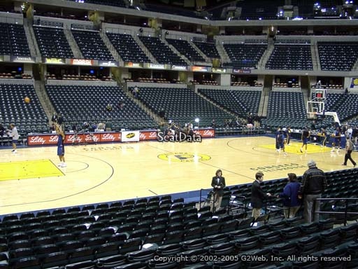 Seat view from section 17 at Bankers Life Fieldhouse, home of the Indiana Pacers