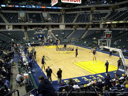 Seat view from section 2 at Bankers Life Fieldhouse, home of the Indiana Pacers