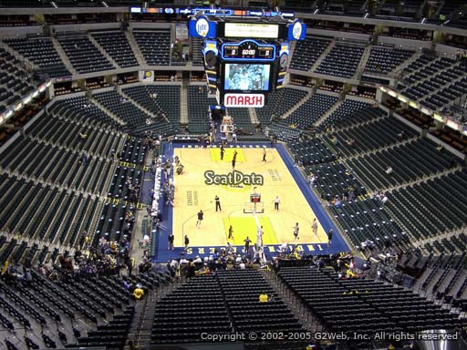 Seat view from section 201 at Bankers Life Fieldhouse, home of the Indiana Pacers