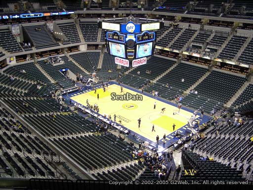 Seat view from section 205 at Bankers Life Fieldhouse, home of the Indiana Pacers