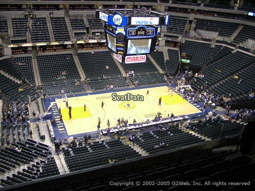 Seat view from section 210 at Bankers Life Fieldhouse, home of the Indiana Pacers