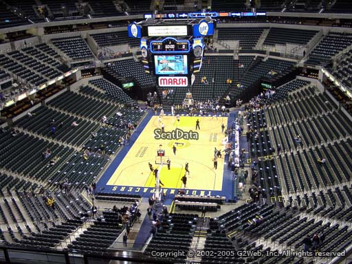 Seat view from section 216 at Bankers Life Fieldhouse, home of the Indiana Pacers
