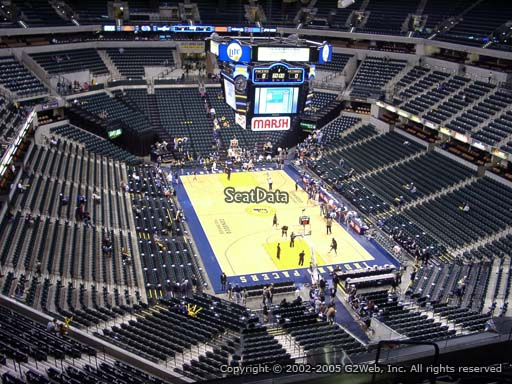 Seat view from section 219 at Bankers Life Fieldhouse, home of the Indiana Pacers