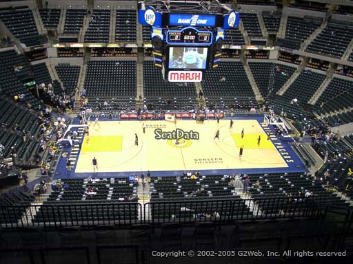 Seat view from section 225 at Bankers Life Fieldhouse, home of the Indiana Pacers