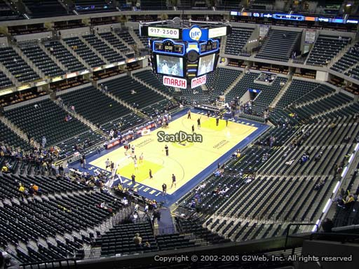 Seat view from section 229 at Bankers Life Fieldhouse, home of the Indiana Pacers