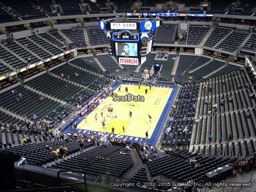 Seat view from section 231 at Bankers Life Fieldhouse, home of the Indiana Pacers