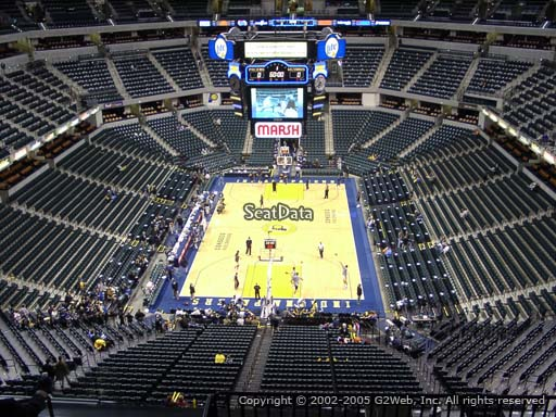 Seat view from section 232 at Bankers Life Fieldhouse, home of the Indiana Pacers