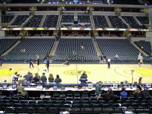 Seat view from section 5 at Bankers Life Fieldhouse, home of the Indiana Pacers