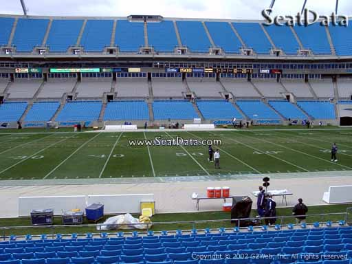 Seat view from section 112 at Bank of America Stadium, home of the Carolina Panthers