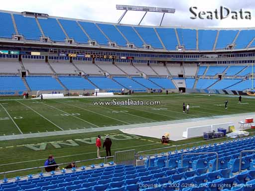 Seat view from section 114 at Bank of America Stadium, home of the Carolina Panthers