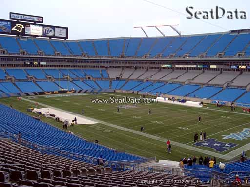 Seat view from section 309 at Bank of America Stadium, home of the Carolina Panthers