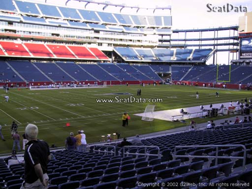 Seat view from section 135 at Gillette Stadium, home of the New England Patriots