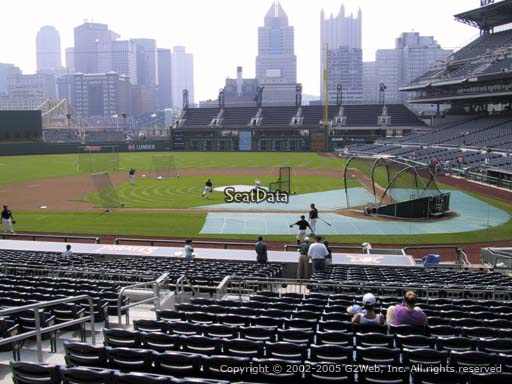 Seat view from section 120 at PNC Park, home of the Pittsburgh Pirates